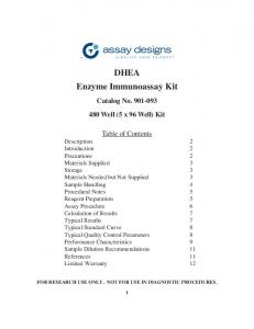 DHEA Enzyme Immunoassay Kit