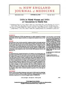 DHEA in Elderly Women and DHEA or Testosterone in Elderly Men ABSTRACT