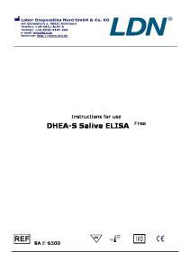 DHEA-S Saliva ELISA Free