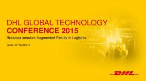 DHL GLOBAL TECHNOLOGY CONFERENCE 2015