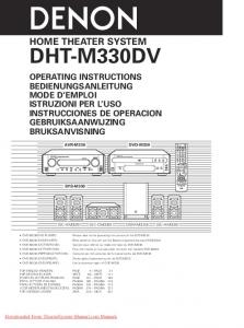 DHT-M330DV HOME THEATER SYSTEM