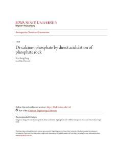 Di-calcium phosphate by direct acidulation of phosphate rock