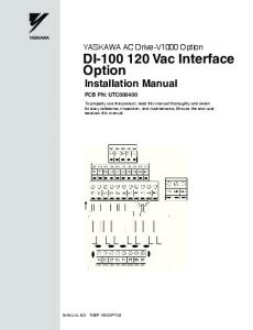 DI Vac Interface Option