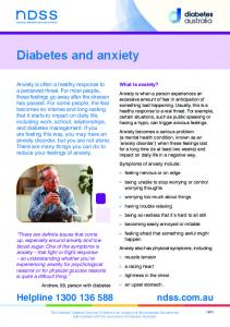 Diabetes and anxiety. What is anxiety?