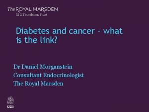 Diabetes and cancer what is the link?