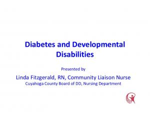 Diabetes and Developmental Disabilities