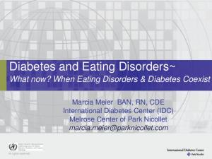 Diabetes and Eating Disorders~