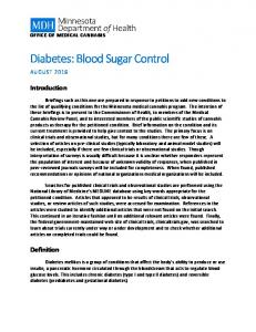 Diabetes: Blood Sugar Control