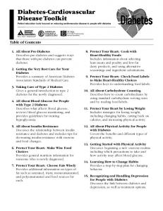 Diabetes-Cardiovascular Disease Toolkit