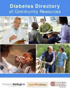 Diabetes Directory. of Community Resources