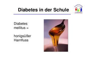 Diabetes in der Schule