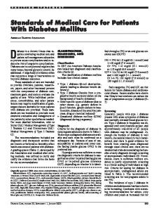 Diabetes is a chronic illness that requires