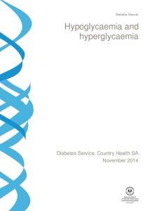Diabetes Manual. Hypoglycaemia and hyperglycaemia