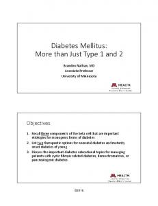 Diabetes Mellitus: More than Just Type 1 and 2