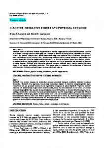 DIABETES, OXIDATIVE STRESS AND PHYSICAL EXERCISE