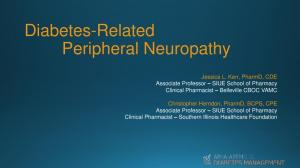 Diabetes-Related Peripheral Neuropathy