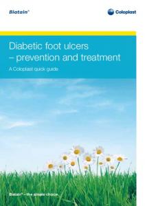 Diabetic foot ulcers prevention and treatment