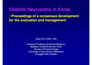 Diabetic Neuropathy in Korea