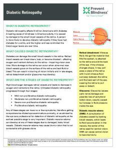 Diabetic Retinopathy WHAT IS DIABETIC RETINOPATHY? WHAT CAUSES DIABETIC RETINOPATHY? WHAT ARE THE STAGES OF DIABETIC RETINOPATHY?