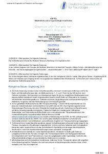 Diagnose und Therapie der Multiplen Sklerose