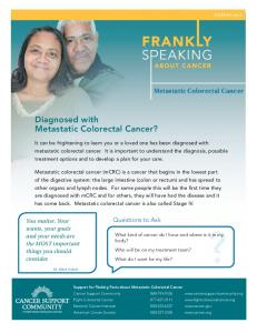Diagnosed with Metastatic Colorectal Cancer?