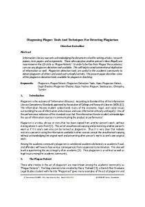 Diagnosing Plague: Tools And Techniques For Detecting Plagiarism