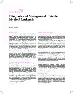 Diagnosis and Management of Acute Myeloid Leukemia
