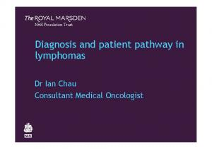 Diagnosis and patient pathway in lymphomas
