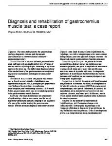 Diagnosis and rehabilitation of gastrocnemius muscle tear: a case report
