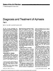 Diagnosis and Treatment of Aphasia