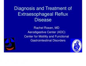Diagnosis and Treatment of Extraesophageal Reflux Disease