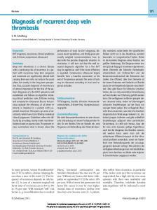Diagnosis of recurrent deep vein thrombosis
