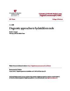 Diagnostic approaches to hydatidiform mole