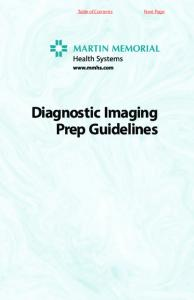 Diagnostic Imaging Prep Guidelines