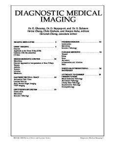 DIAGNOSTIC MEDICAL IMAGING