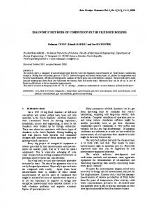 DIAGNOSTIC METHODS OF COMBUSTION IN THE FLUID BED BOILERS
