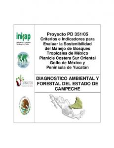 DIAGNOSTICO AMBIENTAL Y FORESTAL DEL ESTADO DE CAMPECHE