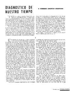 DIAGNOSTICO DE NUESTRO TIEMPO