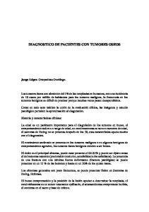 DIAGNOSTICO DE PACIENTES CON TUMORES OSEOS