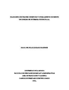DIAGNOSTICO EN PROCESO DE ESTUDIO Y OTORGAMIENTO DE CREDITO DE CONSUMO EN INVERSORA PICHINCHA S.A