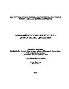DIAGNOSTICO SOCIOAMBIENTAL DE LA CUENCA DEL RIO USUMACINTA