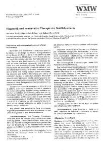 Diagnostik und konservative Therapie der Stuhlinkontinenz