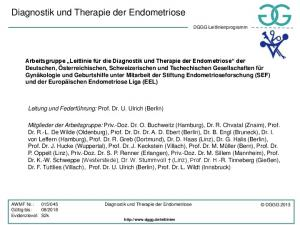 Diagnostik und Therapie der Endometriose