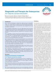 Diagnostik und Therapie der Osteoporose