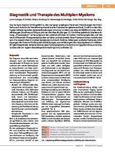 Diagnostik und Therapie des Multiplen Myeloms
