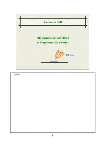Diagramas de actividad y diagramas de estados