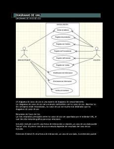 DIAGRAMAS DE UML DIAGRAMAS DE CASO DE USO