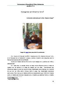 Dialogando con Antonino Ferro 1