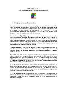 DIALOGOS DE PAZ. Una propuesta de los pescadores Artesanales