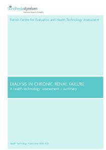 DIALYSIS IN CHRONIC RENAL FAILURE